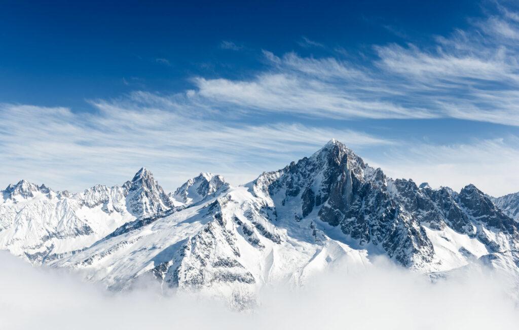 les alpes en neige - france