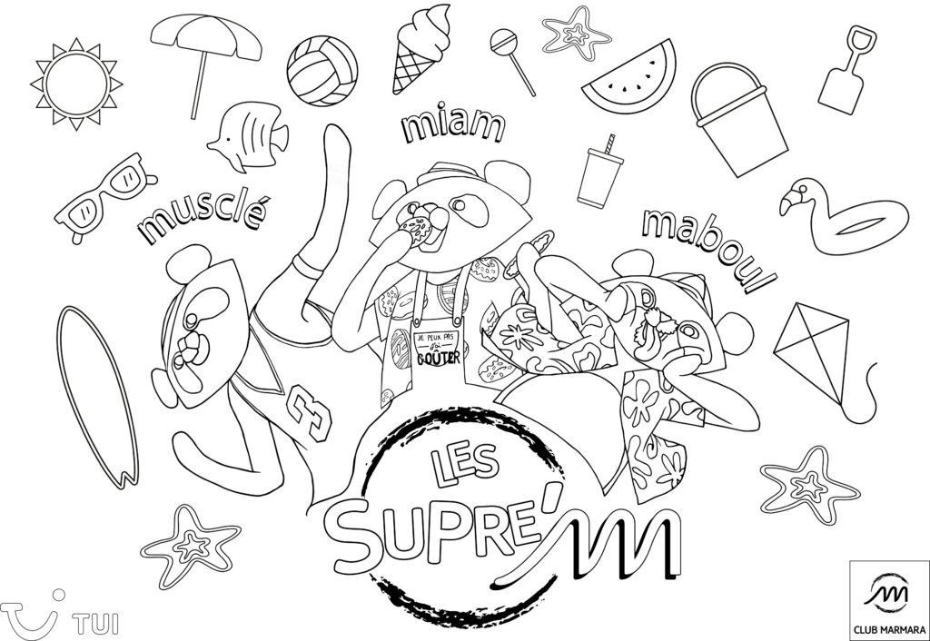 Coloriage Supre'M